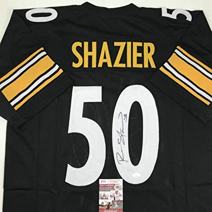 Black Gold Ryan Shazier Men Game Jersey White