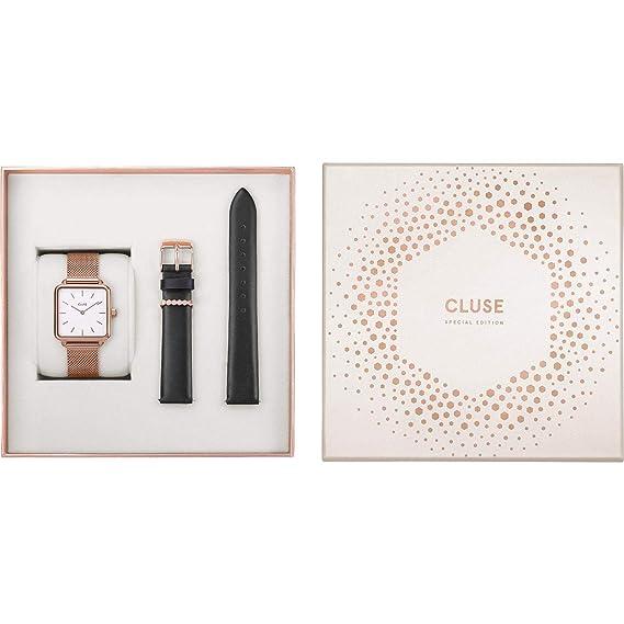 Cluse Special Edition La Garconne Reloj de Mujer Cuarzo 28mm Correa de Acero Caja de latón CLG014: Amazon.es: Relojes