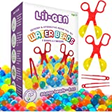Li'l Gen Water Beads with Fine Motor Skills Toy Set, Non-Toxic Water Sensory Toy for Kids - 20,000 Beads with 2 Scoops and Tw