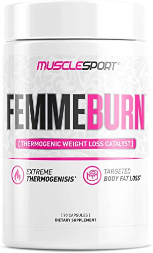 Musclesport FemmeBurn for Her 90 Capsules, Fat Burner, Weight Loss, Appetite Suppressant, Cortisol Control