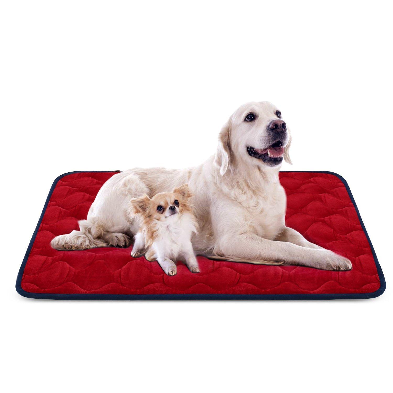 Tapis doux pour chien, Coussin de luxe et durable, Tapis antidérapant et lavable de chien Hero Dog (brun, XL)