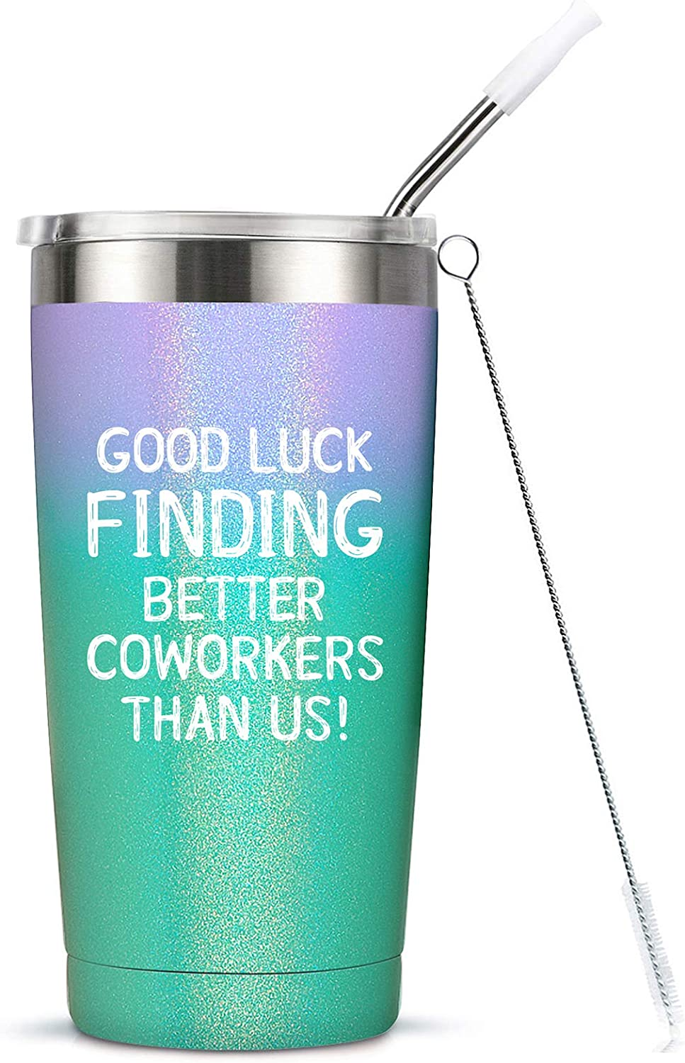 Amazon Com Going Away Gift For Coworker Women Goodbye Farewell Leaving Cup For Colleague Boss Co Worker Friends Good Luck Finding Better Coworkers Than Us Tumbler Cup Mug 20 Ounce Kitchen Dining