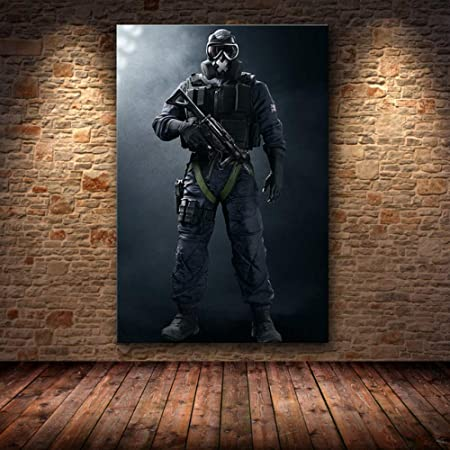 mmzki Juego póster Lienzo Pintura Arte Soldado Pintura al ...