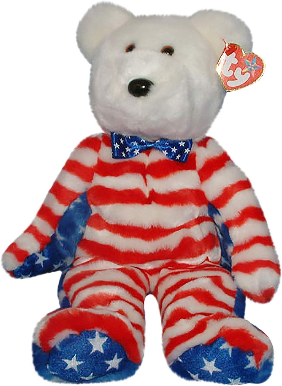 Beanie Buddies Ty Liberty Bear Red 9488
