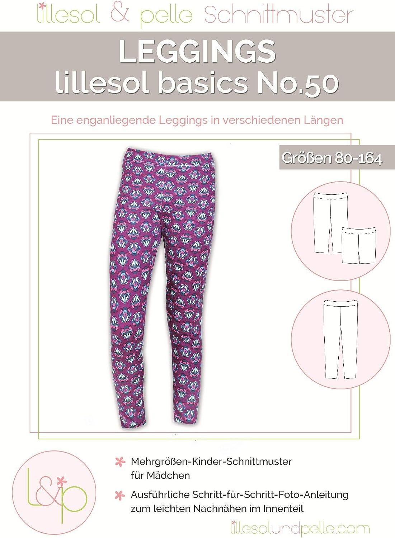 Lillesol /& Pelle Schnittmuster basics No50 Leggings Papierschnittmuster