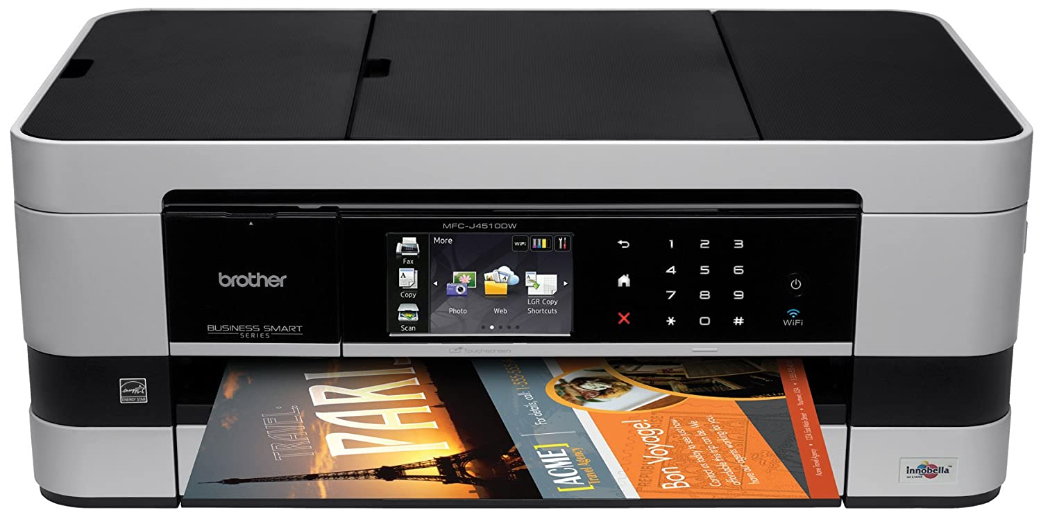 Brother Printer MFCJ4510DW Wireless Color Photo Printer with Scanner, Copier and Fax, Amazon Dash Replenishment Enabled