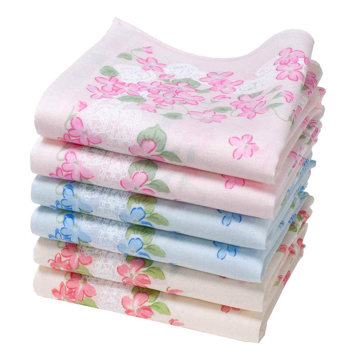 """Annie"" handkerchiefs - 16"" square - 6 units Merrysquare"