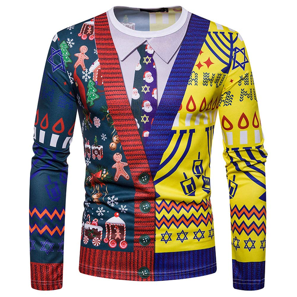 Foncircle Men Sweatshirt APPAREL メンズ X-Large マルチカラー2 B07J54DQXT