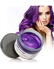 Mofajang Hair Wax Dye Styling Cream Mud, Instant Hair Coloring Dye Wax,Washable Temporary Hairstyle Cream 4.23 oz, Hair Pomades, Natural Hairstyle Wax for Men and Women Party Cosplay (purple)