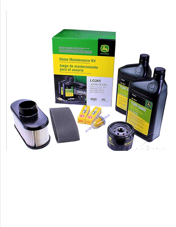 .John Deere Maintenance Kit X300, X320, X324, X360, X500, X530, X534, Filters, Oil Spark Plugs,LG265