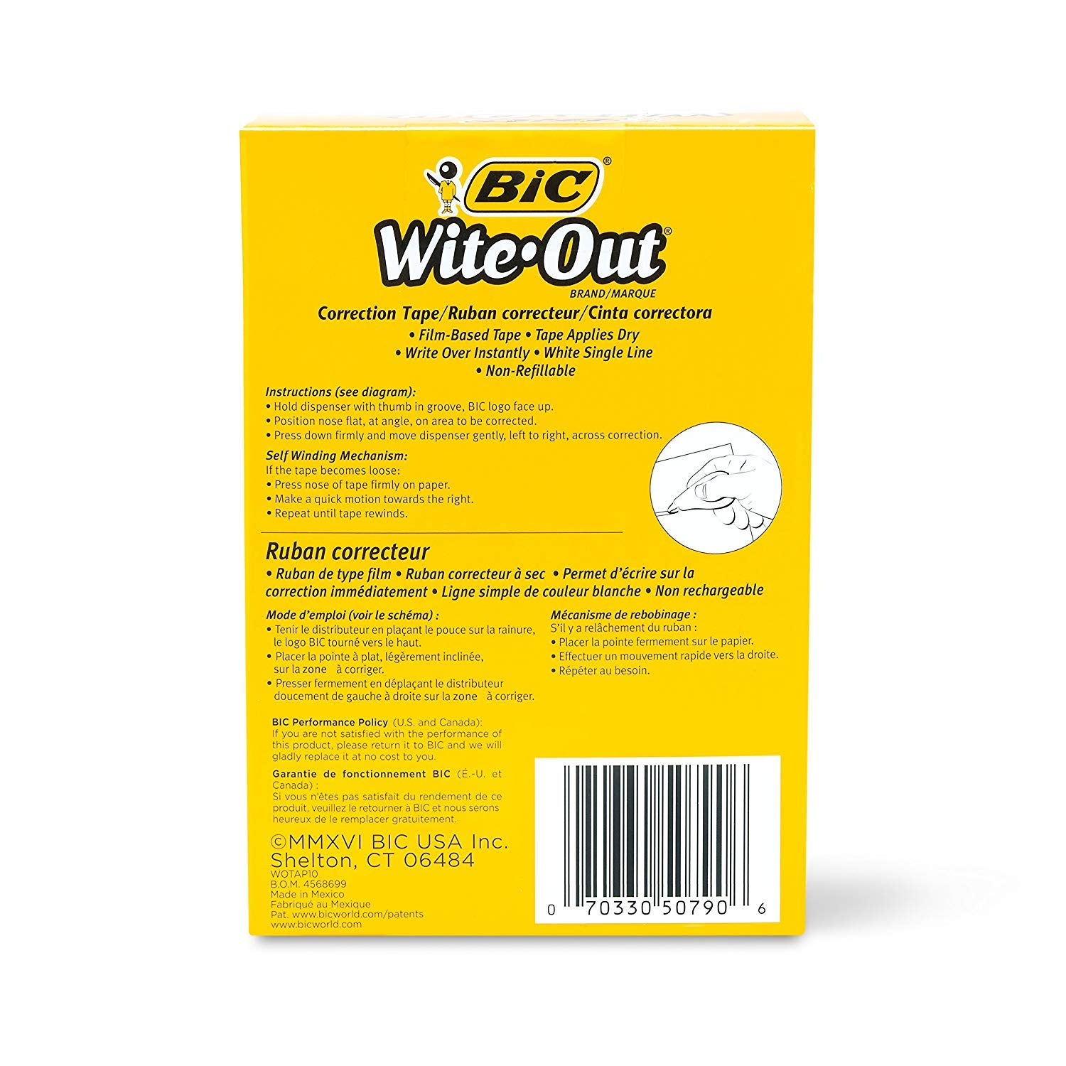 BIC Wite-Out Brand EZ Correct Correction Tape, White, 38-Count (38) by BIC (Image #4)