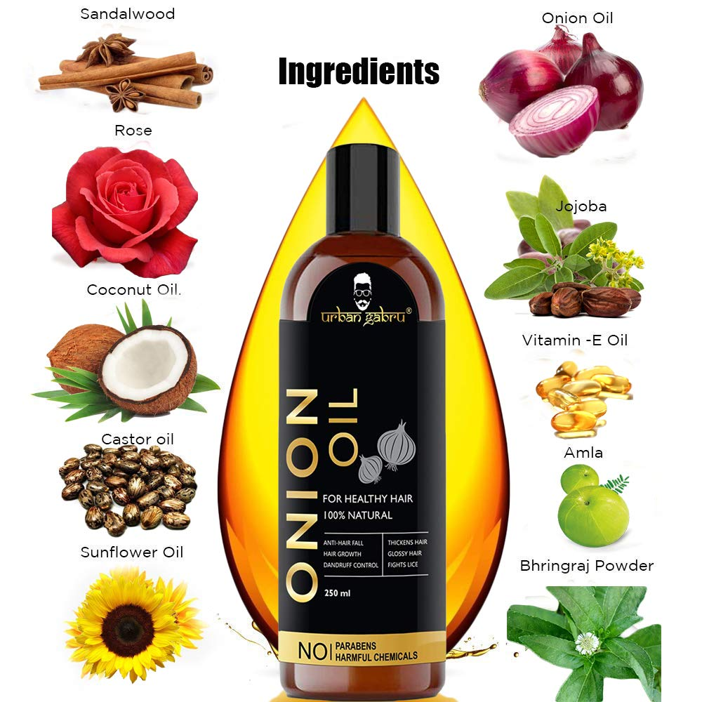 Pic/Video Urban Gabru Onion Oil for hair growth and skin care