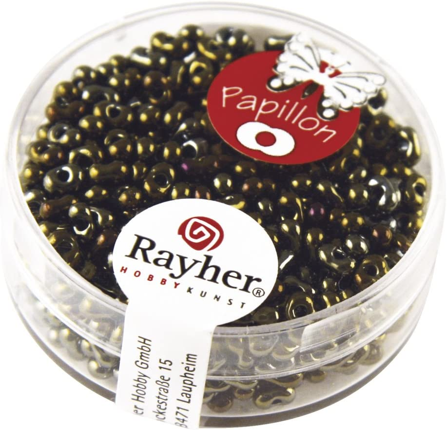 Rayher 14142820 Papillon-Rocailles amethyst 2x4 mm