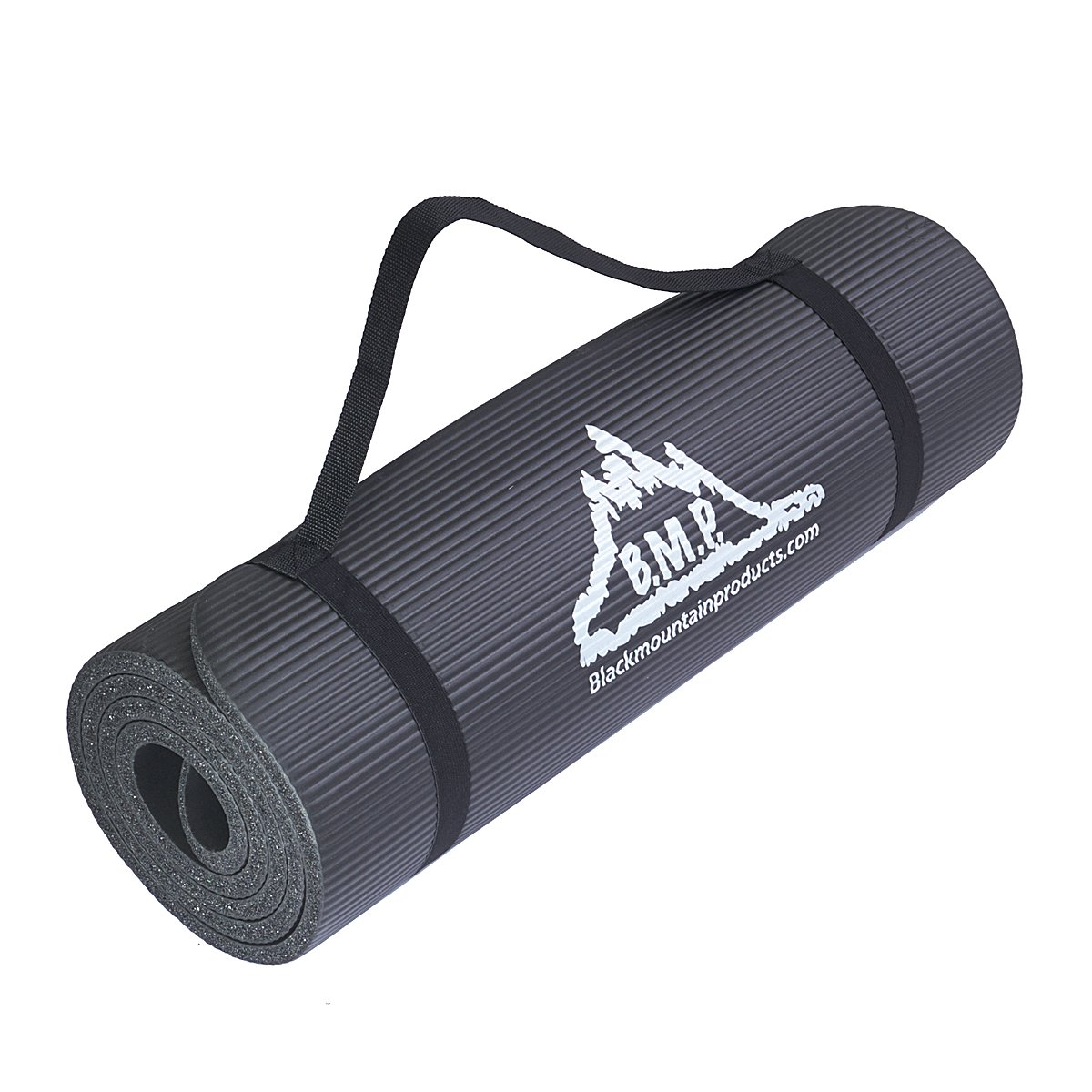 Black Mountain Products Yoga and Exercise Mat, 1 2 x 73 1 2 x 24 1 2-Inch