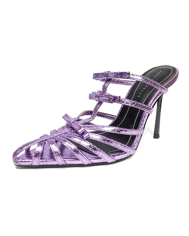 Amazon.com  Zara Women Lilac pointed toe high-heel sandals 3360 001   Clothing
