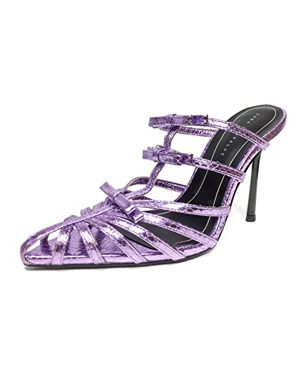 504f244f25 Amazon.com: Zara Women Lilac pointed toe high-heel sandals 3360/001 ...