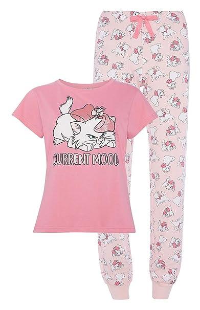 dc1fdabc23ad4 Official Womens Girls New Disney Cotton Aristocat Marie Ladies Pyjama Set  Pajamas T-Shirt Nightwear  Amazon.co.uk  Clothing