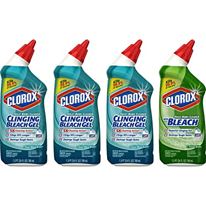 Amazoncom Clorox Toilet Bowl Cleaner With Bleach Variety Pack 24