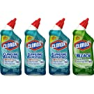 Clorox Toilet Bowl Cleaner with Bleach Variety Pack - 24 Ounces Each, 4 Pack