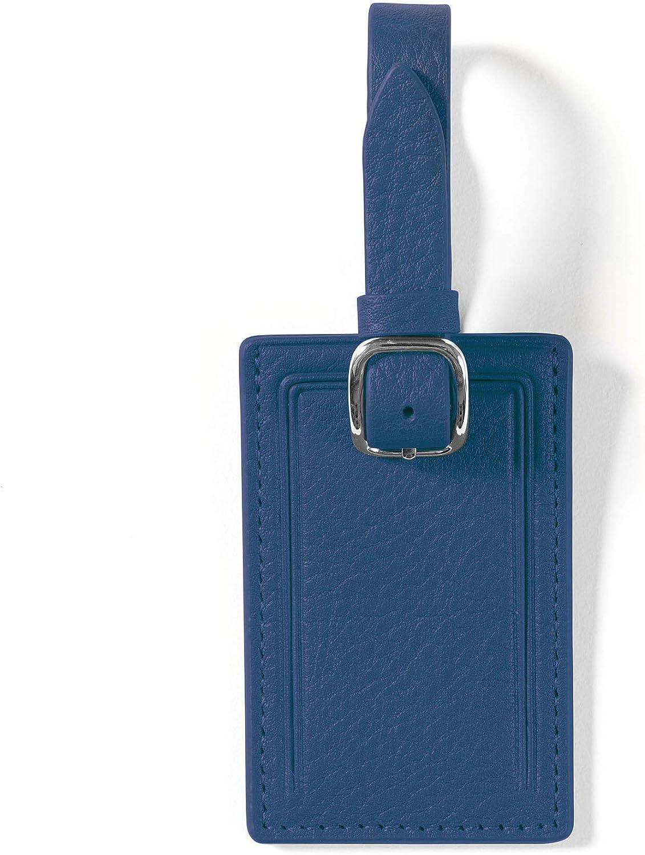Leatherology Cobalt Mini Rectangular Luggage Tag