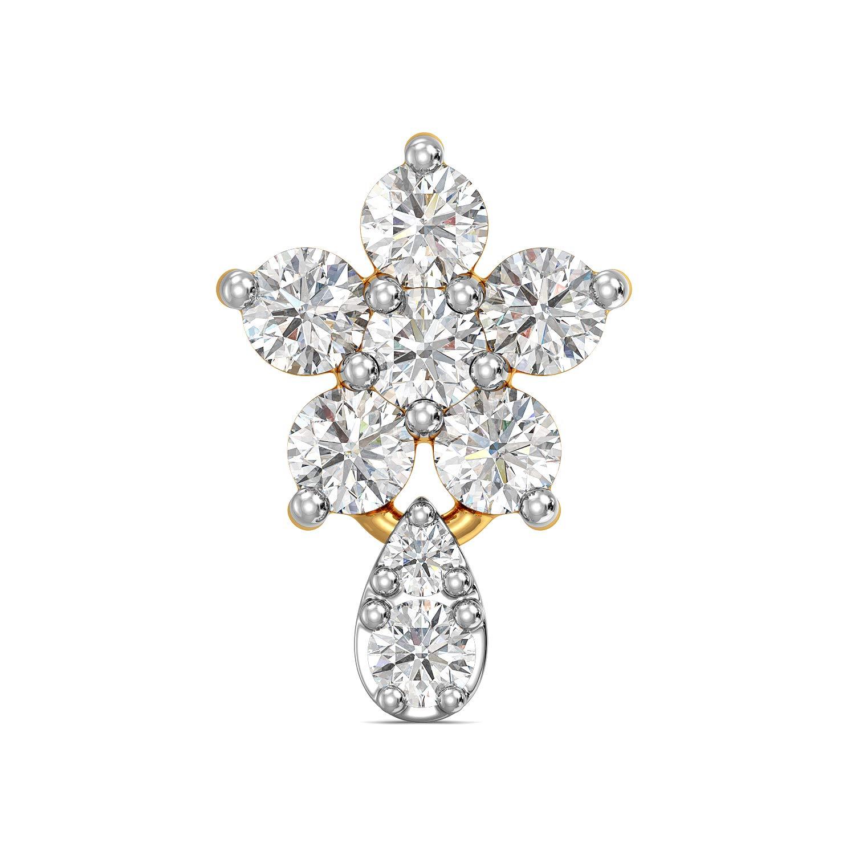 Buy Joyalukkas 18k 750 Yellow Gold And Diamond Nose Pin At Amazon In