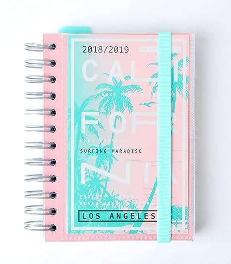 Grupo Erik Editores California- Agenda escolar 2018-2019 día página multilingüe, 11.4 x 16 cm