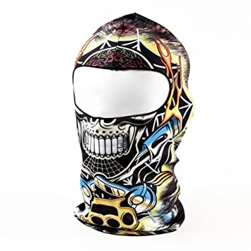 Sports Face Masks Cycling Face Mask Popular Brand 3d Animal Active Outdoor Sports Cycling Motorcycle Masks Black Flame Skull Ski Hood Hat Veil Balaclava Uv Protect Full Face Mask