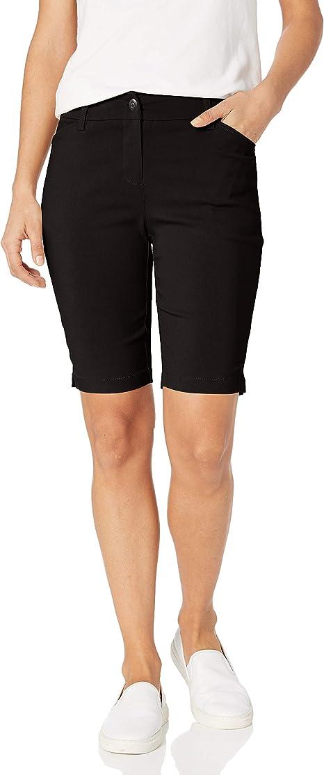 14 Petite Ruby Rd Womens Petite Pull-On Solar Millennium Super Stretch Pant Black