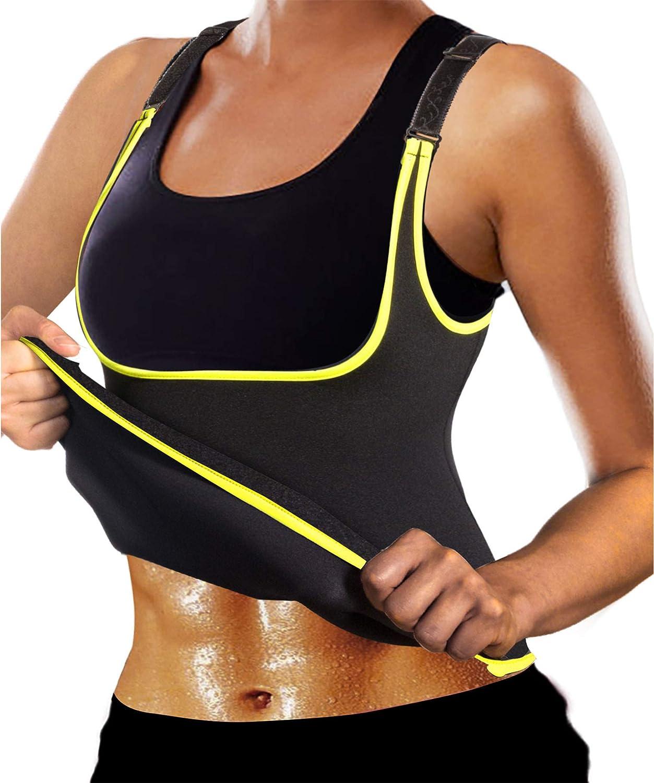 Ursexyly Women Hot Waist Trainer Sexy Workout Tank Top Sport Sauna Suit Adjustable Neoprene Sweat Slimming Vest