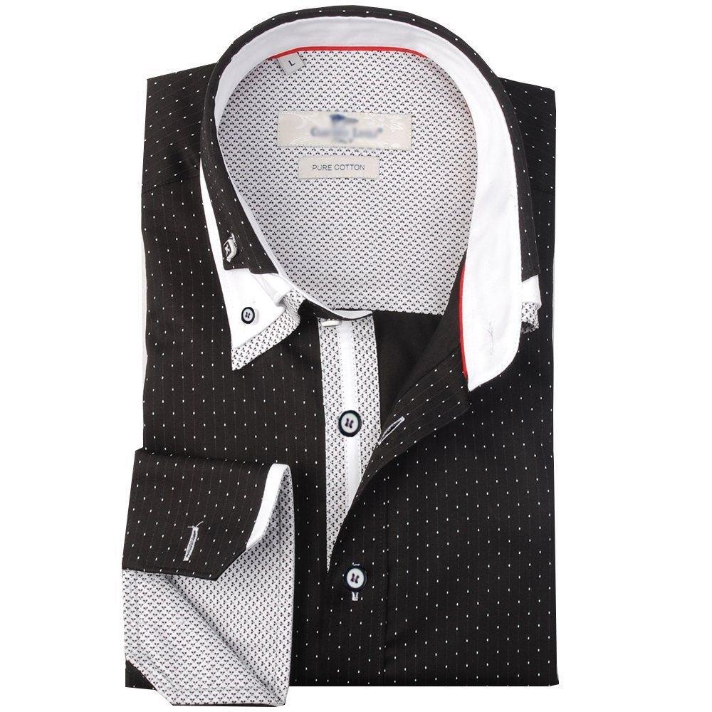 Camiseta de manga corta para hombre diseño italiano cuello Casual de ...