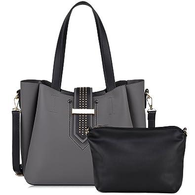 045f62710df Purse Sets, COOFIT Handbags for Women Shoulder Bags Tote Satchel Hobo  (Black) (