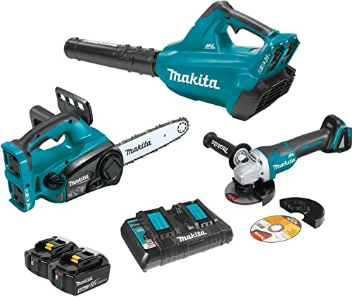 Makita XT274PTX 18V X2 36V LXT Lithium-Ion Cordless 2-Pc. Combo Kit 5.0Ah and Brushless Angle Grinder
