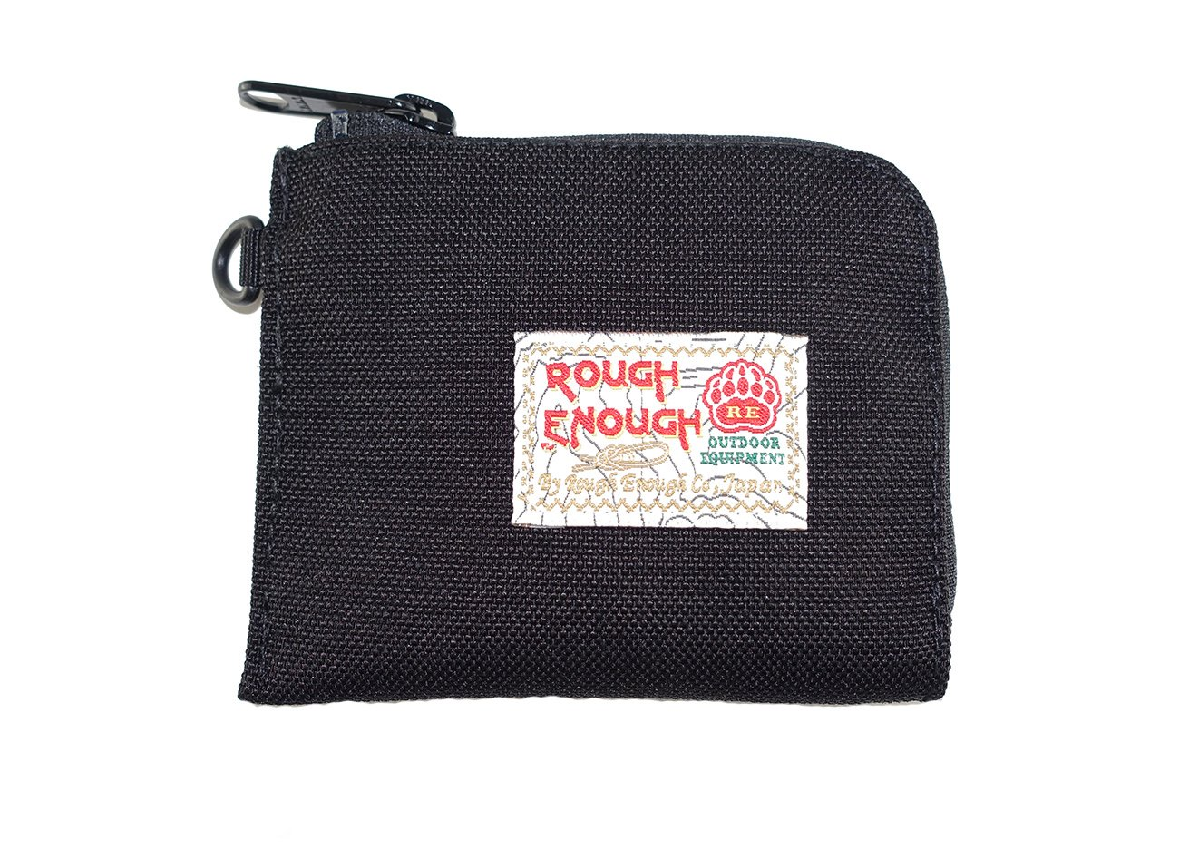 Rough Enough Borsellino a tre funzioni per monete/carte di credito/banconote, Black ROUGH ENOUGH INC. RE8323