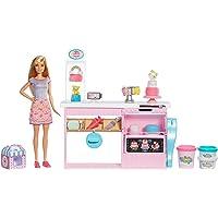 Barbie- Cake Design, Playset Pasticceria con Bambola Inclusa e Accessori Decorazione Torte, Giocattolo per Bambini 3+ Anni, GFP59