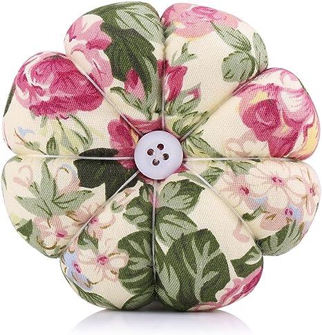 Filfeel Magnetic Sewing Pincushion 1 C-reative Pumpkin Fabric Sewing Needles Pin Cushion with Elastic Wrist Belt 1 pcs