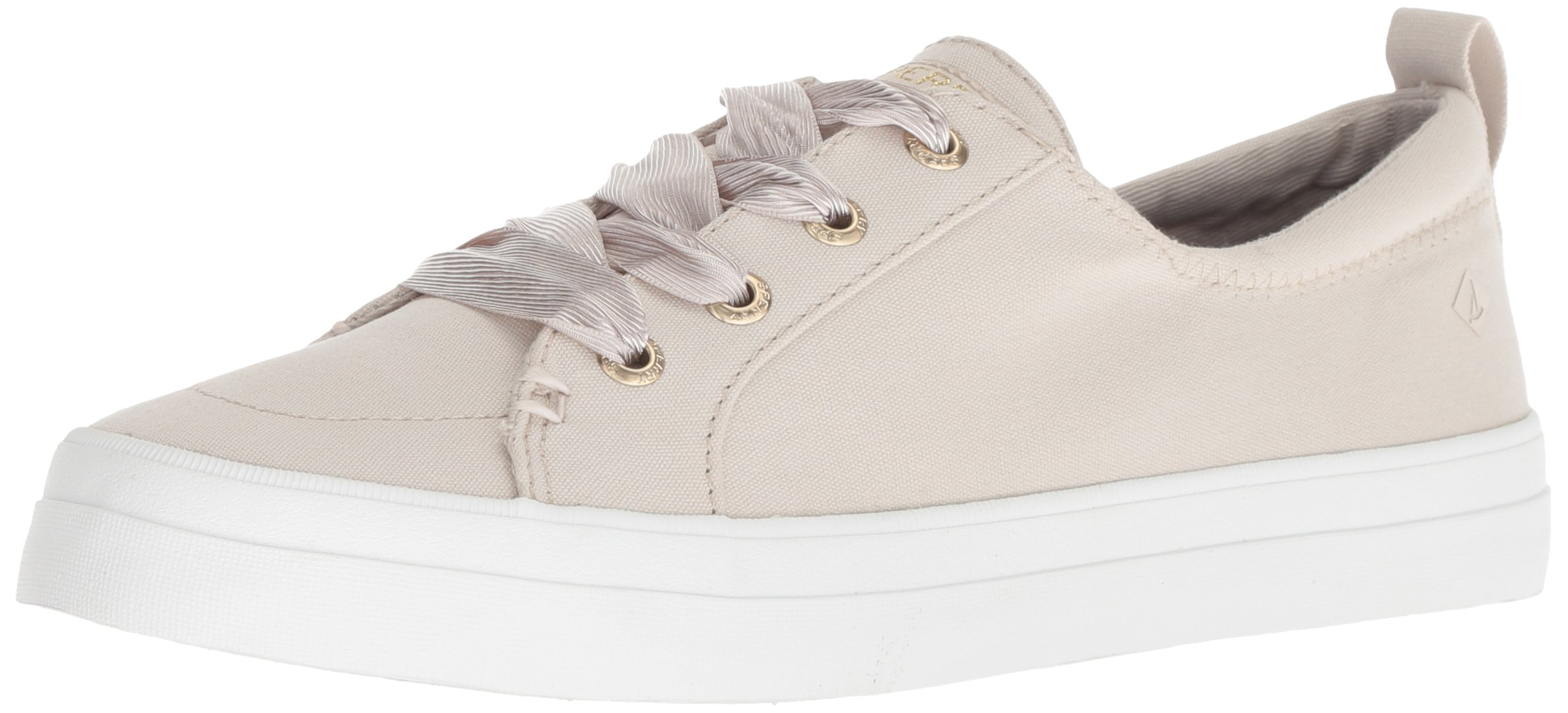 Sperry Top-Sider Women's Crest Vibe Satin LACE Sneaker, Ivory, M 075 Medium US