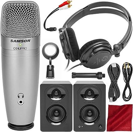 Samson C01U Pro - Pack de grabación con micrófono, auriculares y ...