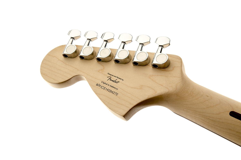 Squier By Fender Standard Stratocaster Beginner Electric More Guitar Wiring 101 300guitarscom Flame Maple Top Amber Sunburst Musical Instruments