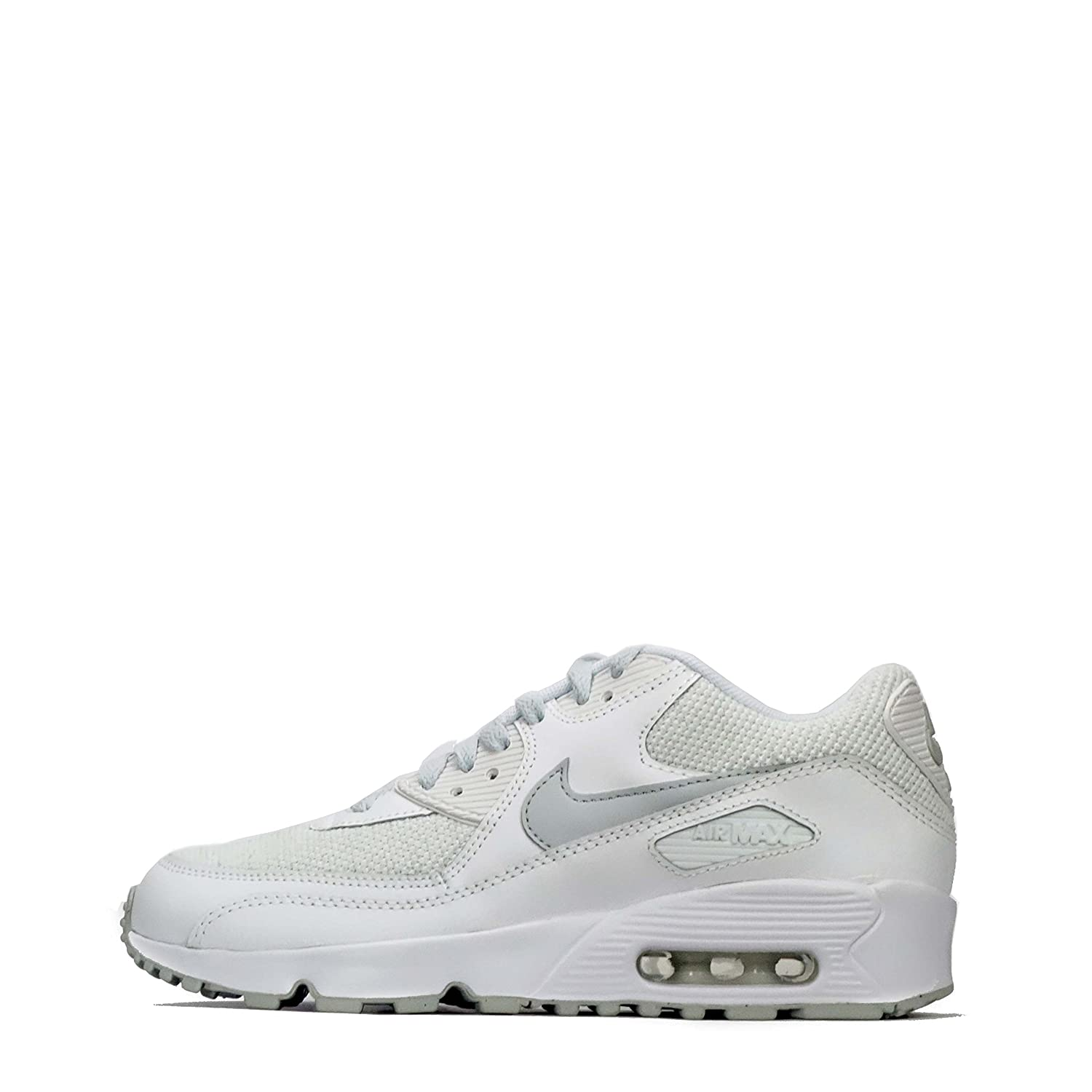 410f20dc08 Junior NIKE AIR MAX 90 Mesh SE Trainers AA0570 100 (UK 5): Amazon.co ...