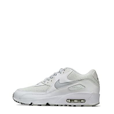 b43a836dca Junior NIKE AIR MAX 90 Mesh SE Trainers AA0570 100 (UK 5): Amazon.co ...