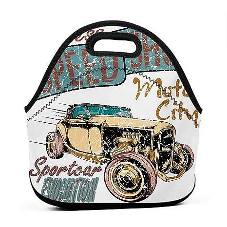 d2051e01efd4 Amazon.com: Convenient Lunch Box Tote Bag Cars, Limitless Speed Shop ...