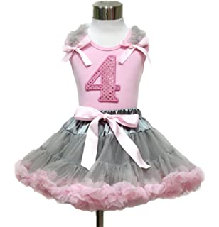 Halloween Light Pink Milk Cow Cowgirl FULL Pettiskirt Skirt Dress Tutu Girl 1-8Y
