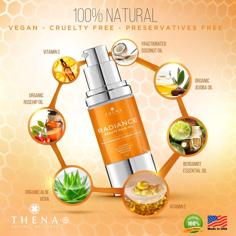 Amazon.com: Aceite facial para radiancia, hidratante diario ...