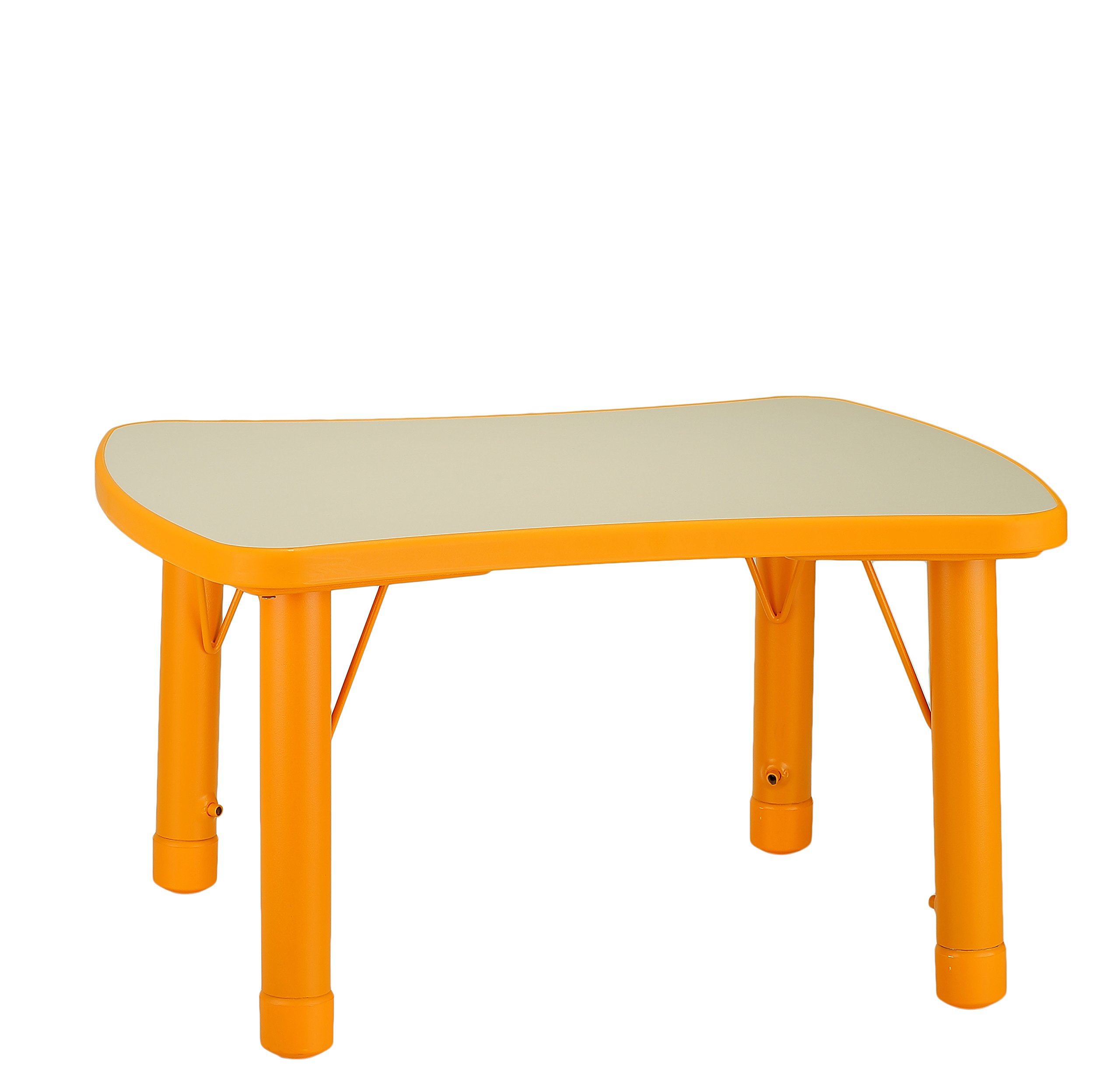 Cozy4Kids Adjustable Soap Shaped Plastic Activity Table, Atomic Orange