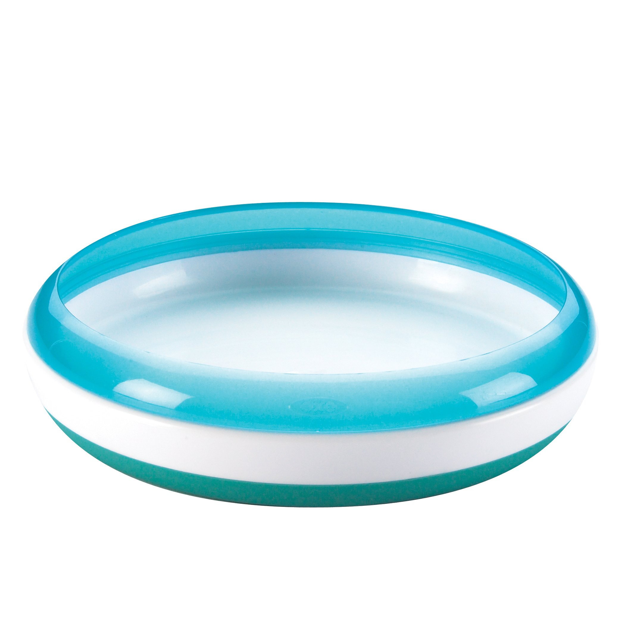 OXO Tot Plate with Removable Training Ring - Aqua