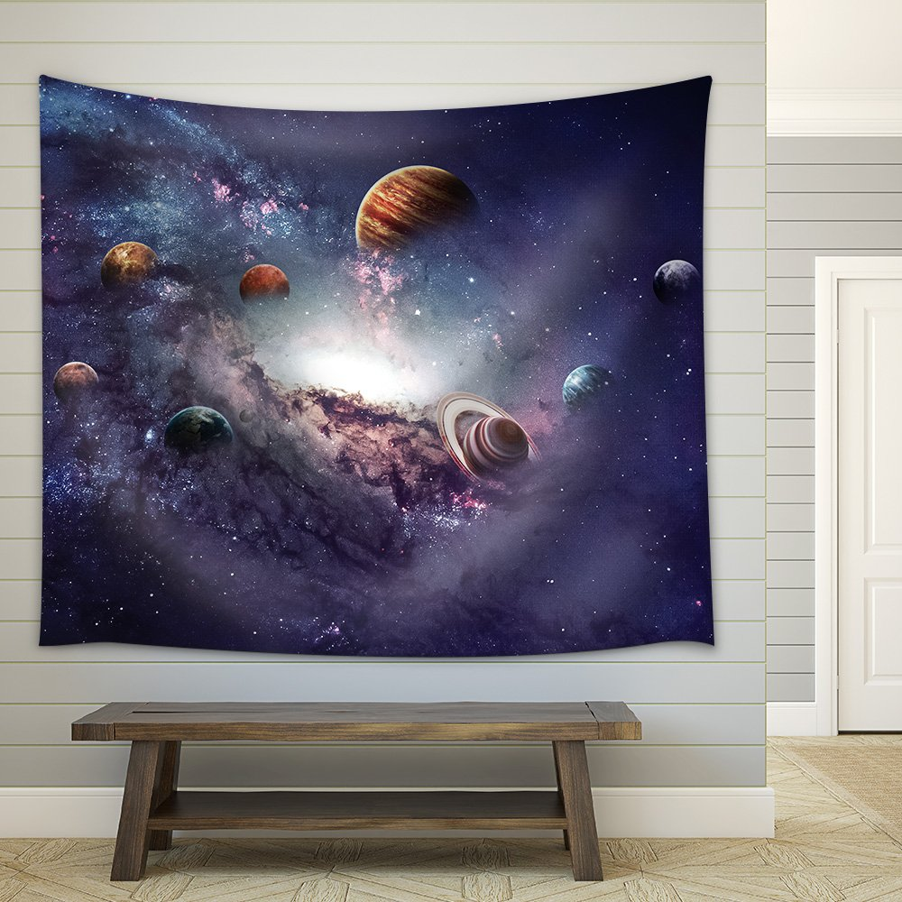 wall26 - High Resolution Images Presents Creating Planets of the Solar System. - Fabric Wall Tapestry Home Decor - 51x60 inches