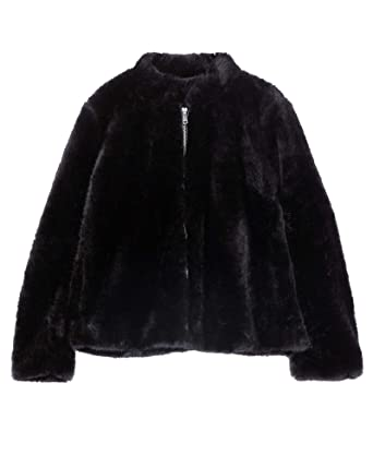 41c8986bc2 Zara Women's Faux Fur Jacket 1255/268 Black: Amazon.co.uk: Clothing