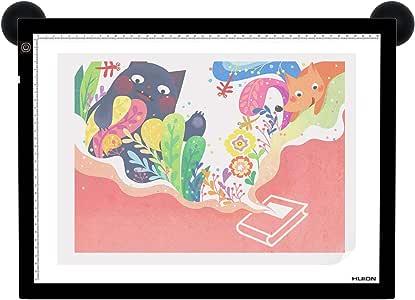 Huion A3 - Caja De Luz, 45 x 36 cm,Con Papel De Calco y Papel De Bola, Blanco y Negro: Amazon.es: Juguetes y juegos
