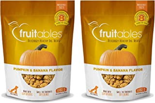 product image for Fruitables Baked Dog Treats Pumpkin & Banana Flavor (2 Pack) 7 oz Each