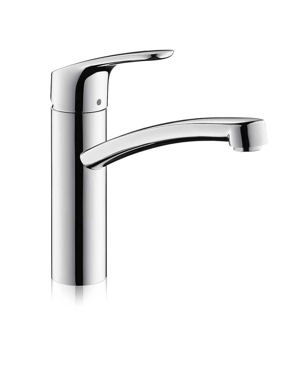 hansgrohe Focus kitchen tap, 360° swivel range, chrome: Amazon.co.uk ...